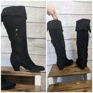 edfe44354b730 Sam Edelman Shoes - Sam Edelman Louella Over-the-Knee Fringe boots